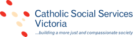 Logo text for Catholic Social Services Victoria