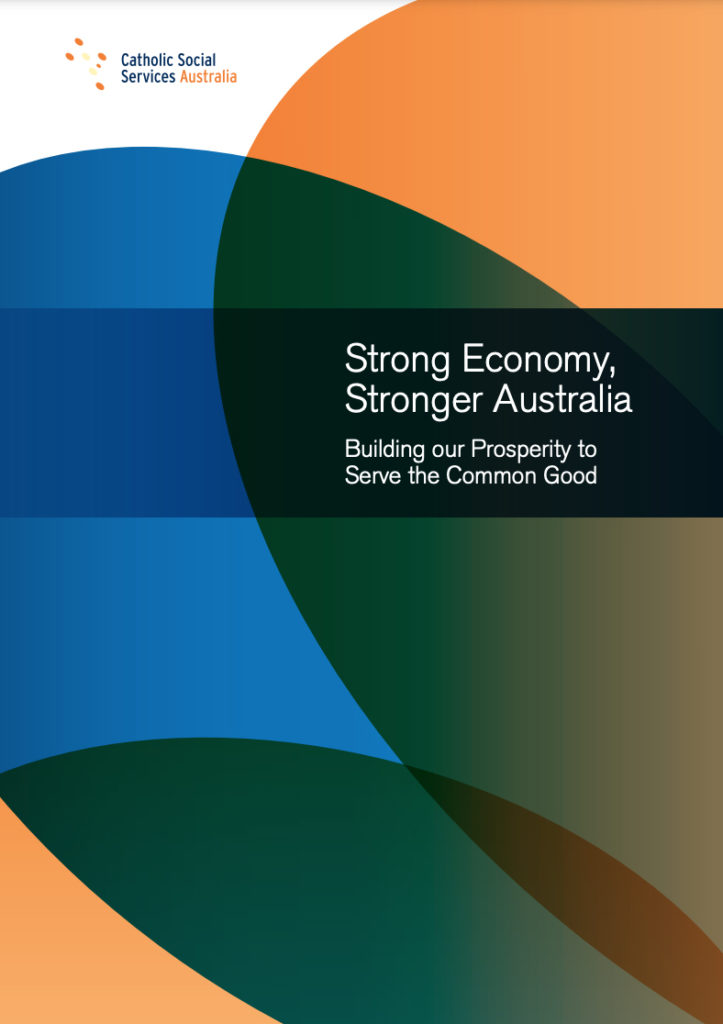 Front cover of report, Stronger Economy Stronger Australia
