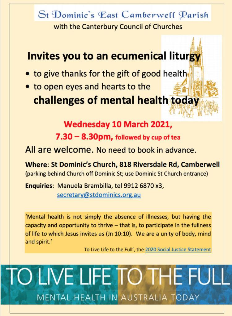 St Dominic's Parish flyer