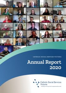 Front cover of Annual Report showing Zoom grid