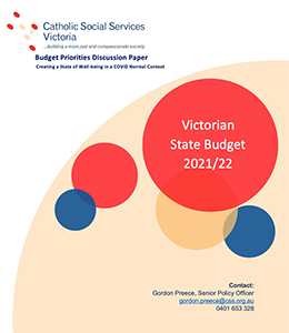 Cover of CSSV Discussion Paper on Vic Budget
