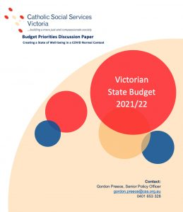 Cover of CSSV Submission on Victorian Government Budget 2021-22